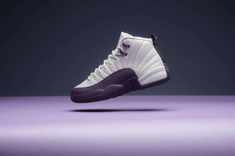 Nike Air Jordan 12 XII GS GG Retro PURPLE White 7.5 shoes Desert Sand 510815-001