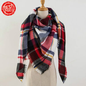 01e0ac7f16 New Women s Winter Soft Plaid Tartan Checked Scarf Large Blanket ...