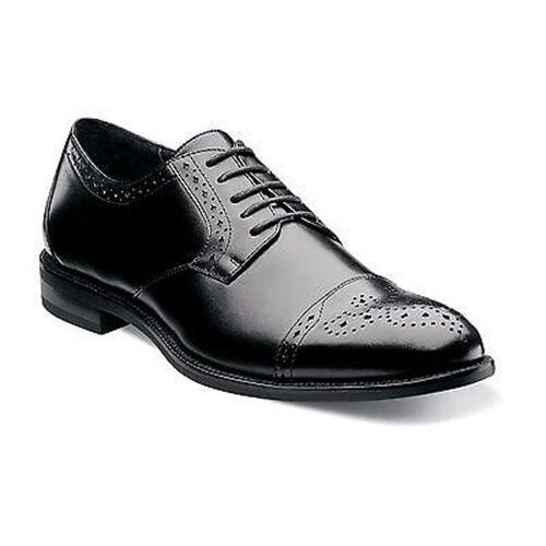 Mens Stacy Adams Black Granville Leather Cap Toe Lace Oxford Business Dress Shoe