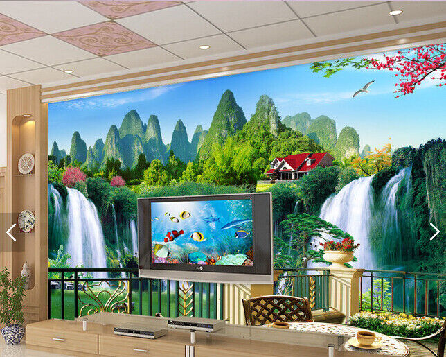 3D Mountain Peak Water 897 Wall Paper Wall Print Decal Deco Indoor Wall Mural CA