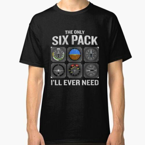 Funny Pilot Quote Cockpit Airplane Flight Intruments Classic T-Shirt S-2XL