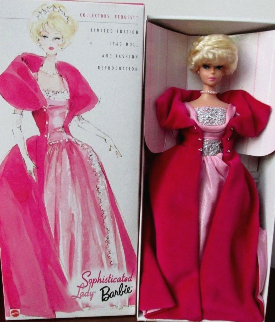 1999 BARBIE DOLL   SOPHISTICATED LADY   L E  NRFB  1963 DOLL REPRODUCTION  24930