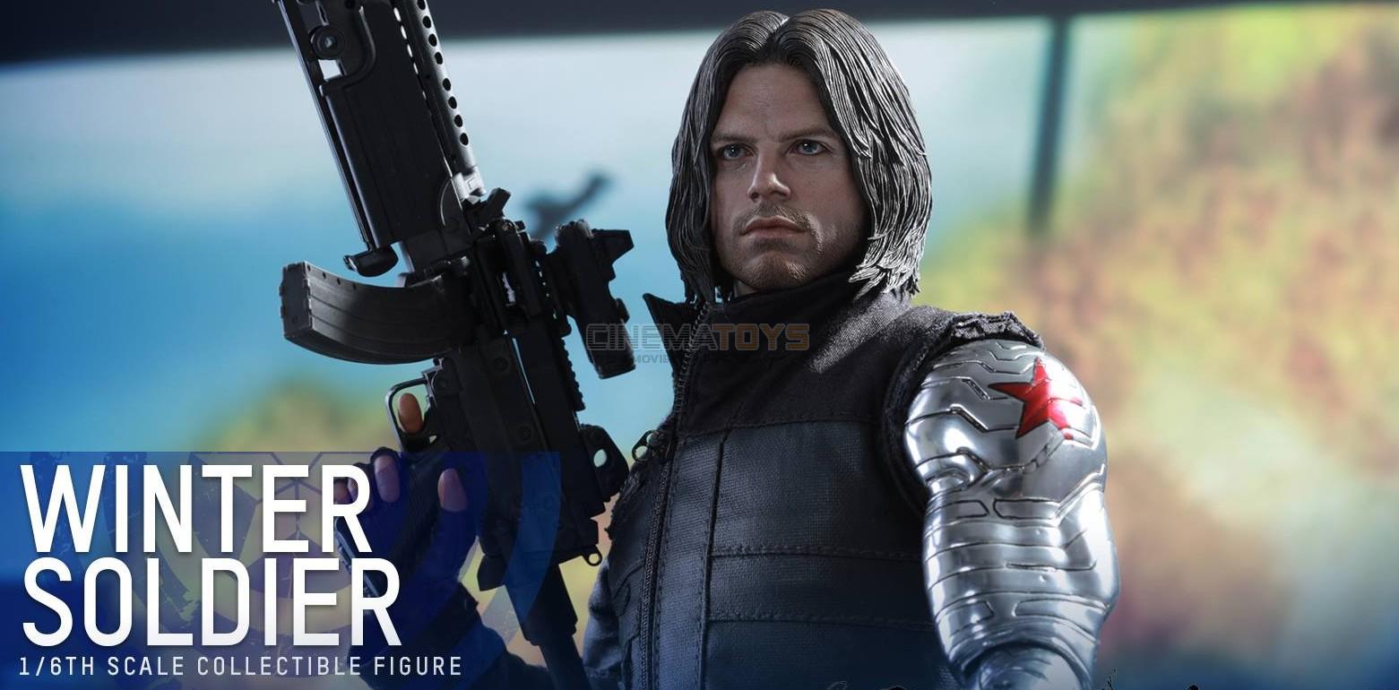 MARVEL Captain America Civil War War War WINTER SOLDIER Action Figure Hot Toys MMS351 797b85