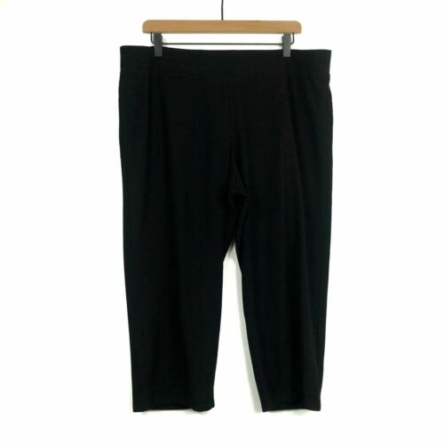 Eileen Fisher Black Crepe Cropped Pants Size XL