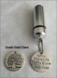 Cremation-Jewellery-Ashes-Urn-w-Engraved-Disc-Keepsake-Memorial-Necklace