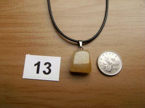 "NATURAL GEMSTONE PENDANTS TUMBLESTONE ROSE CHERRY JASPER AMETHYST QUARTZ /""18"
