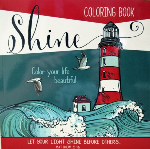 Adult Coloring Book Shine Nautical Spiritual With Bible Verses