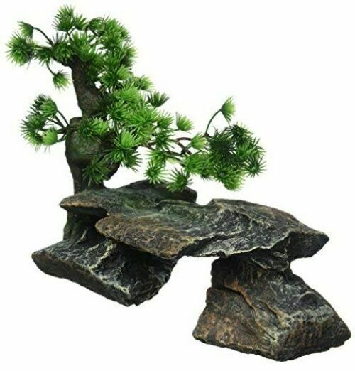 Penn Plax Bonsai Tree On Rocks Style 1 Fish Aquarium Ornament 9 Rr992 For Sale Online Ebay