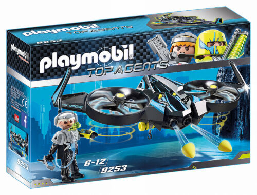 9253 Playmobil Top Agents Mega Drone with Firing Weapons Top Agents Suitable for