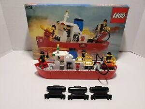 VINTAGE-LEGO-4025-Fire-BARCA-CON-BOX-85-COMPLETO