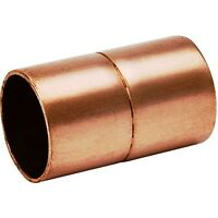 (bag Of 10) 1 1/2 Copper Coupling With Rolled Stop Cxc