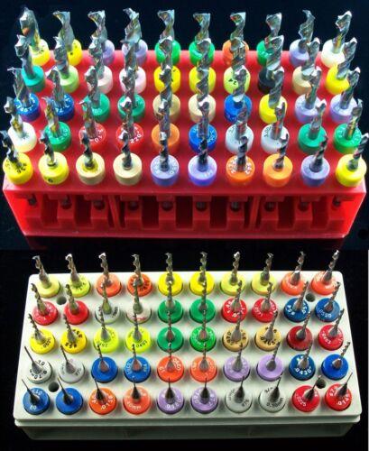 """.189/""""  cnc  D8 RS 100 Piece 50 Size Solid Carbide Drill Bit Set />  .0135/"""""""