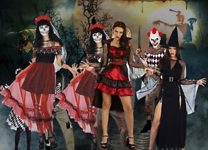 Adult-Halloween-Costume-Vampire-Witch-Bride-Fancy-Dress-outfit-Ladies-Women-Girl