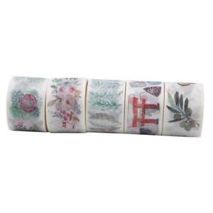 Floral-DIY-Adhesive-Washi-Tape-Scrapbooking-Paper-Decorative-Sticker-SM3