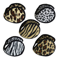 Fleece Ear Muff Animal Print Unisex Ear Warmers One Size Fashion Winter Muffs