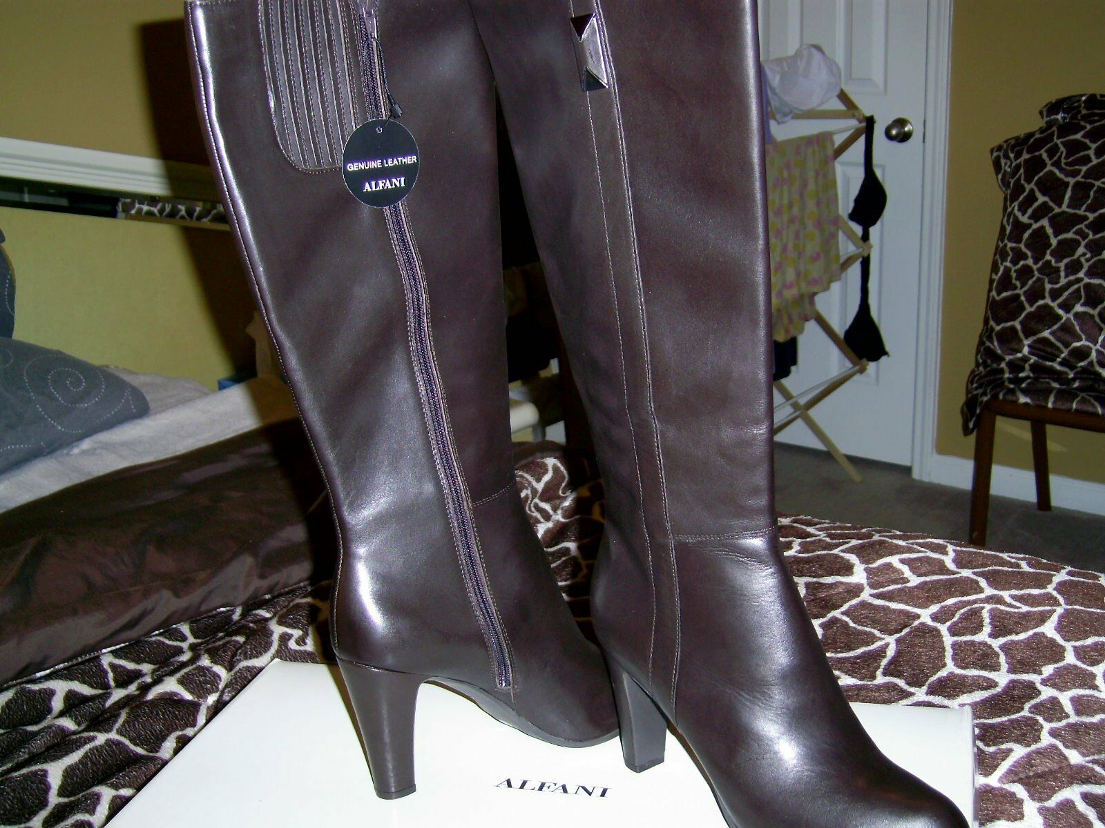 Alfani Women's Leather Boots Size 10M