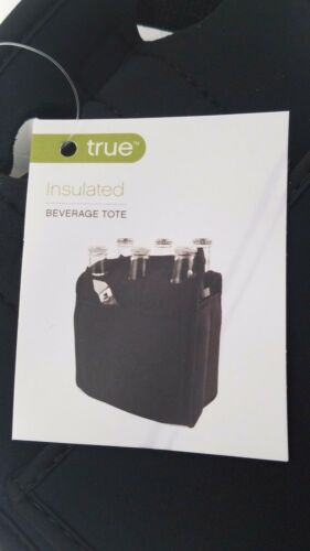 Neoprene Insulated Beverage Tote with bottle opener Holds 6 cans// Bottles