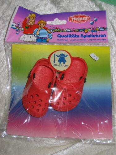 Heless Puppenschuhe,Clogs 3 Größen 5 cm und 7 cm für Puppen Füßchen 4 cm