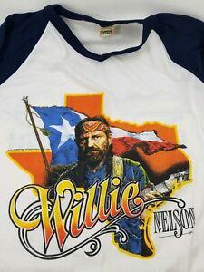 Wrangler-Jeans-T-Shirt-Willie-Nelson-Family-Tour-80s-Graphic-XLarge-XL-Vtg-Rare