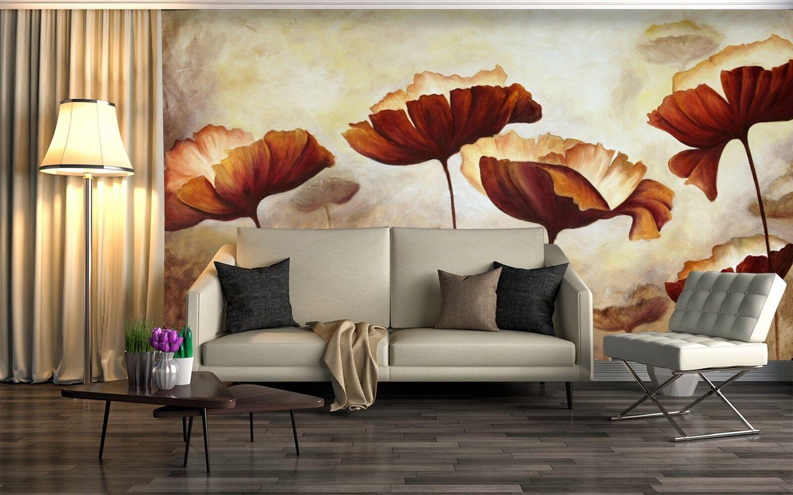3D Vintage Lotusblatt Kunst 939 Tapete Wandgemälde Tapeten Bild Familie DE Lemon