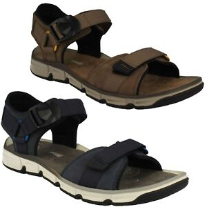 676b92bc69cc Image is loading MENS-CLARKS-LEATHER-OPEN-TOE-RIPTAPE-CASUAL-SUMMER-