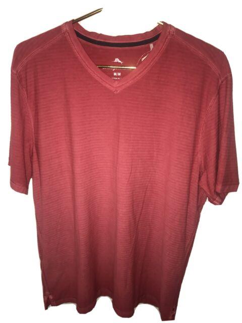 Tommy Bahama Cirrus Coast V-Neck S/S Cotton Blend Stretch M Mandalay Red NWT
