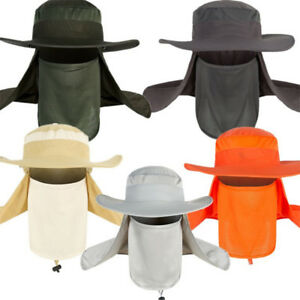 Outdoor-Sun-Protection-Fishing-Cap-Neck-Face-Flap-Hat-Wide-Brim-Cover-Summer