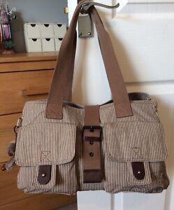 Kipling-grande-borsa-di-tela-buona-condizione-pulita