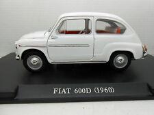 COCHE FIAT 600D 600 D 1960 ESCALA 1/24 1:24 MODEL CAR LEO MODELS ITALY seat