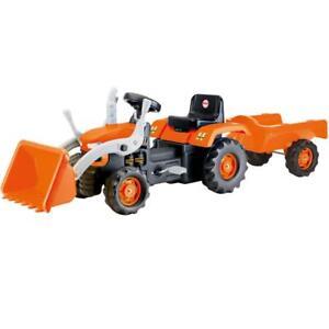 Dolu Tractor W / Trailer Pelle Et Pédale Opéré Enfants Rideon Jouet Orange 3yr 8690089080523