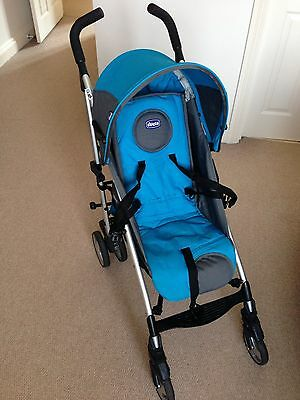 Chicco Lite Way Single Stroller With Raincover Fleece Footmuff And Basket Ebay