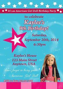 American Girl Birthday Invitation Isabelle Birthday American Girl
