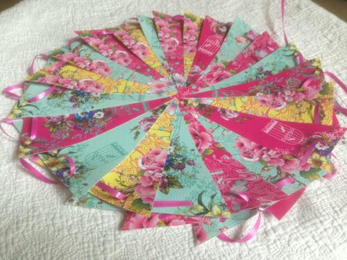 Pip Studio Garland// Vintage Floral Handmade Bunting 40ft Parties//Bedroom//Outdoor
