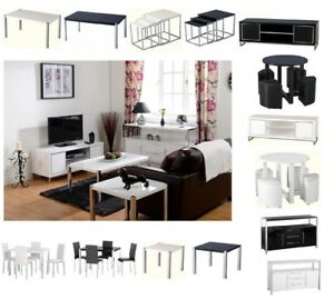 Image Is Loading Charisma Black Or White Gloss Living Dining