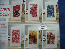 FLOWERS IN FOCUS  BEAUTIFUL CLOSE-UP FLORAL GREETINGS CARDS CROSS STITCH CHART