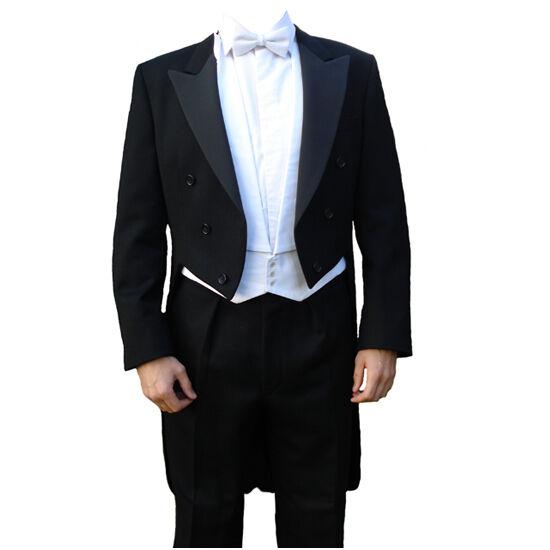 Finest Barathea Wool Weiß Tie Tailcoat 40