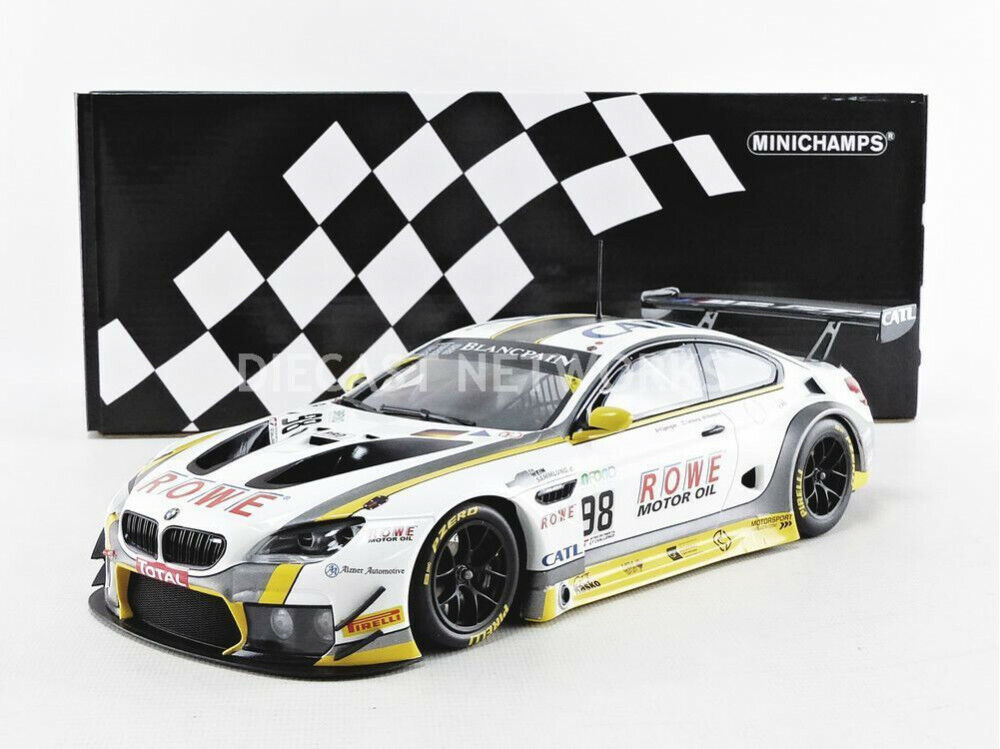 Minichamps BMW M6 GT3 Rowe Racing 24H SPA 2017  18 Scale New Release