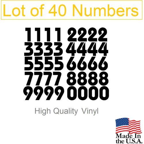 Bauhaus Tool Box,Locker Numbers Decal Lot of 40 White or Black Vinyl Mailbox