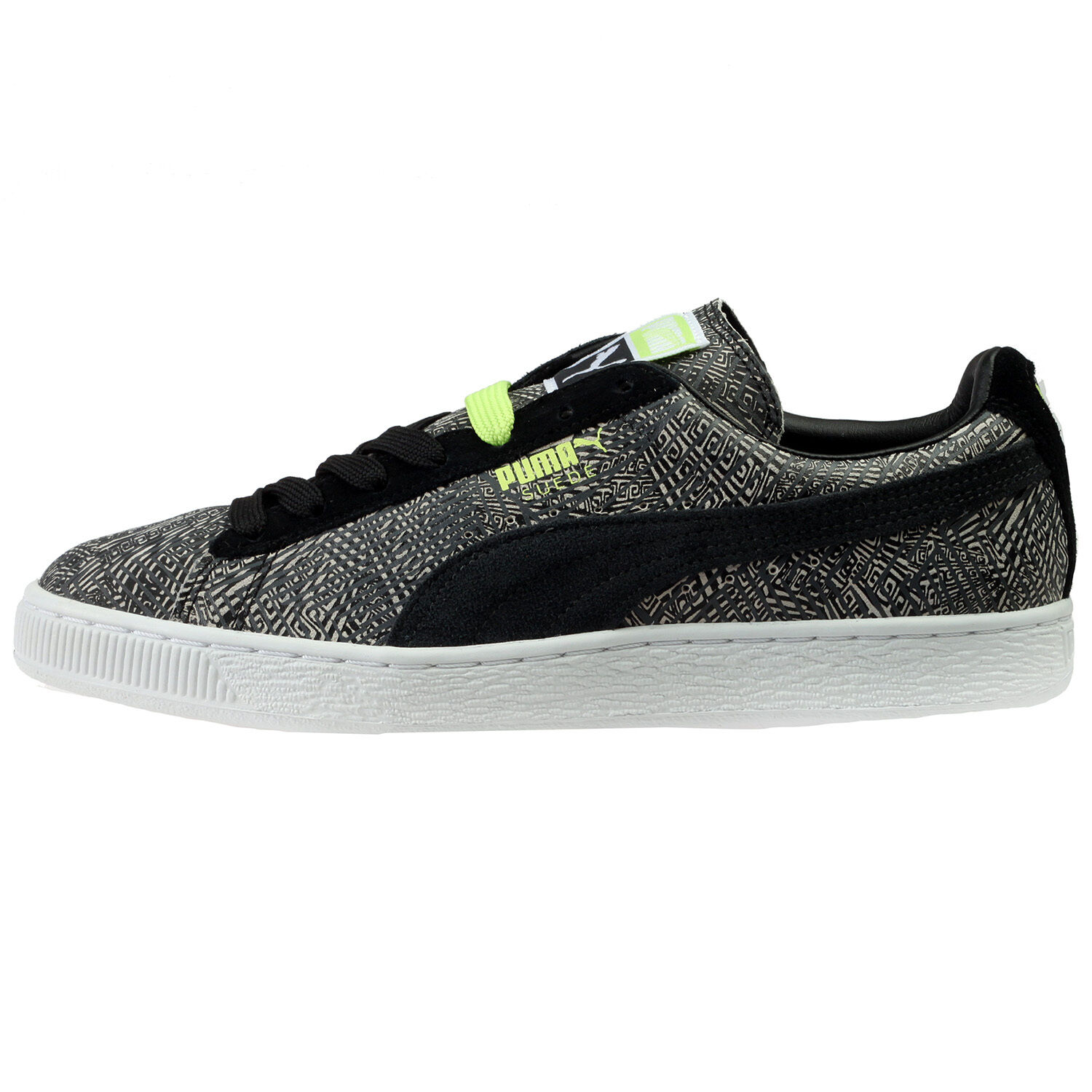 Puma Suede Mis-Match Mens 359407-01 Dark Shadow Black Athletic shoes Size 7.5