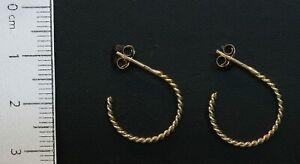 9-Carat-Yellow-Gold-Twisted-Wire-Hoop-Earrings-Butterfly-Fastener-80-18-618