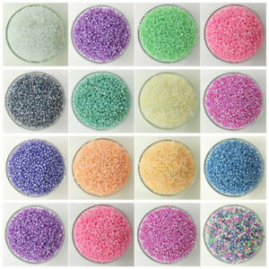 NEW-DIY-2MM-3MM-4MM-Size-Glass-Cream-Seed-Spacer-beads-Jewelry-Fitting
