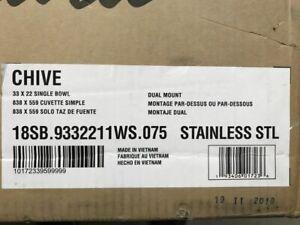 American Standard Chive 33 X 22 Calibre 18 De Estacion De Trabajo De Cocina De Acero Inoxidable Ebay