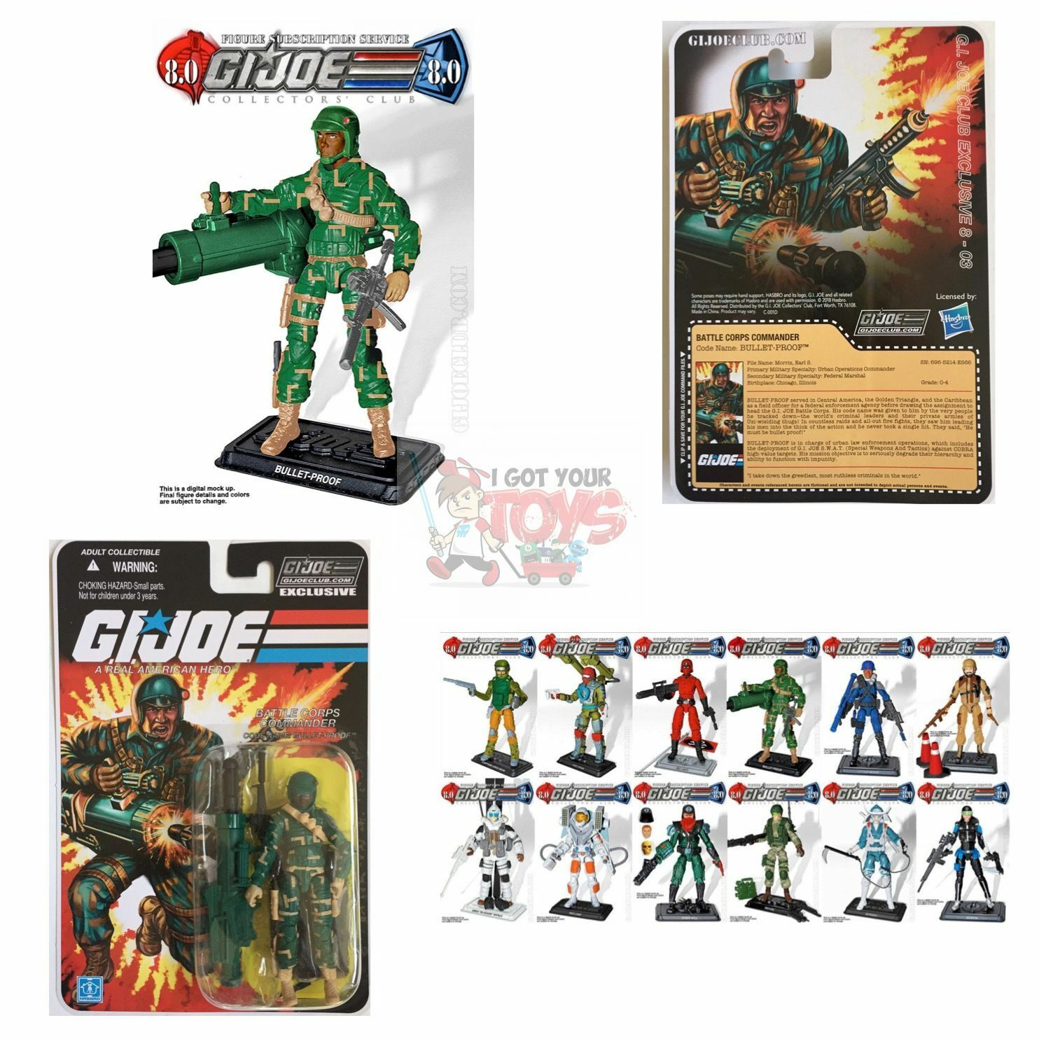 BULLET PROOF (BATTLE CORPS) FSS 8.0 GI JOE Club 3.75  Inch 2018 EXCLUSIVE FIGURE