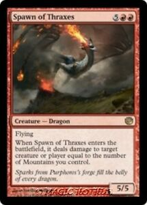 SPAWN-OF-THRAXES-Journey-into-Nyx-MTG-Red-Creature-A-Dragon-RARE
