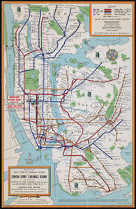 Nyc New York City Queens Brooklyn Subway Map Art Print With
