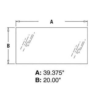 John Deere T242699 Loader Backhoe Rear Middle Cab Glass