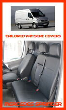 Tailored Leather Look seat covers for Mercedes Sprinter 2016  W906 black  1+2
