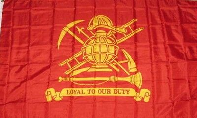 Eerlijk Wholesale Lot 5 3x5 Fire Fighter Loyal To Our Duty Flag 3'x5' Banner