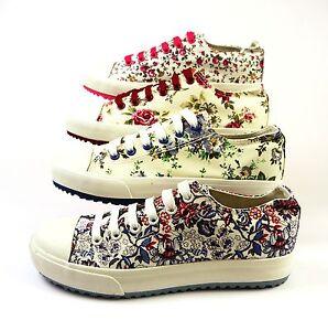 Bulldozer-Canvas-Sneaker-Gr-36-40-NEU-OVP-florale-Muster-versch-Farben