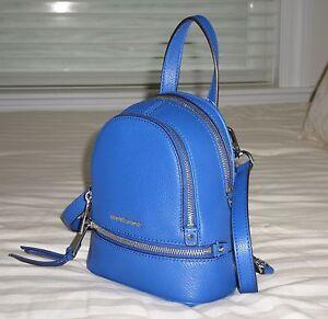 129e26a22e New Michael Kors RHEA Zip XS Convert Messenger Backpack LEATHER ...